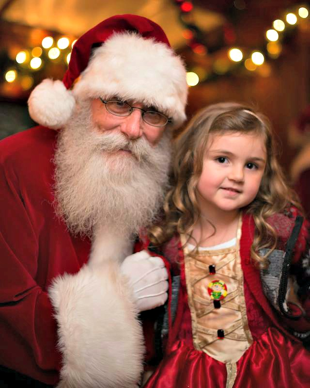 Santa with LIttle Girl